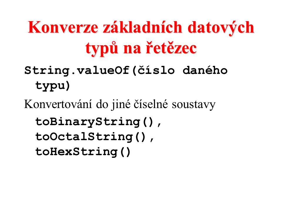 Konverze základních datových typů na řetězec