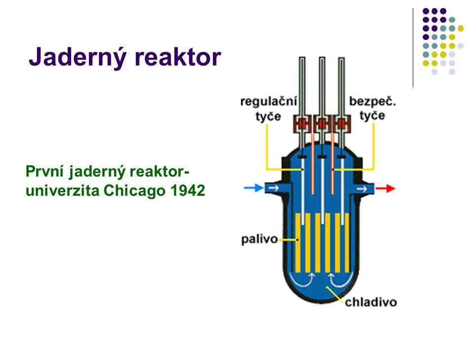 Jaderný reaktor První jaderný reaktor-univerzita Chicago 1942
