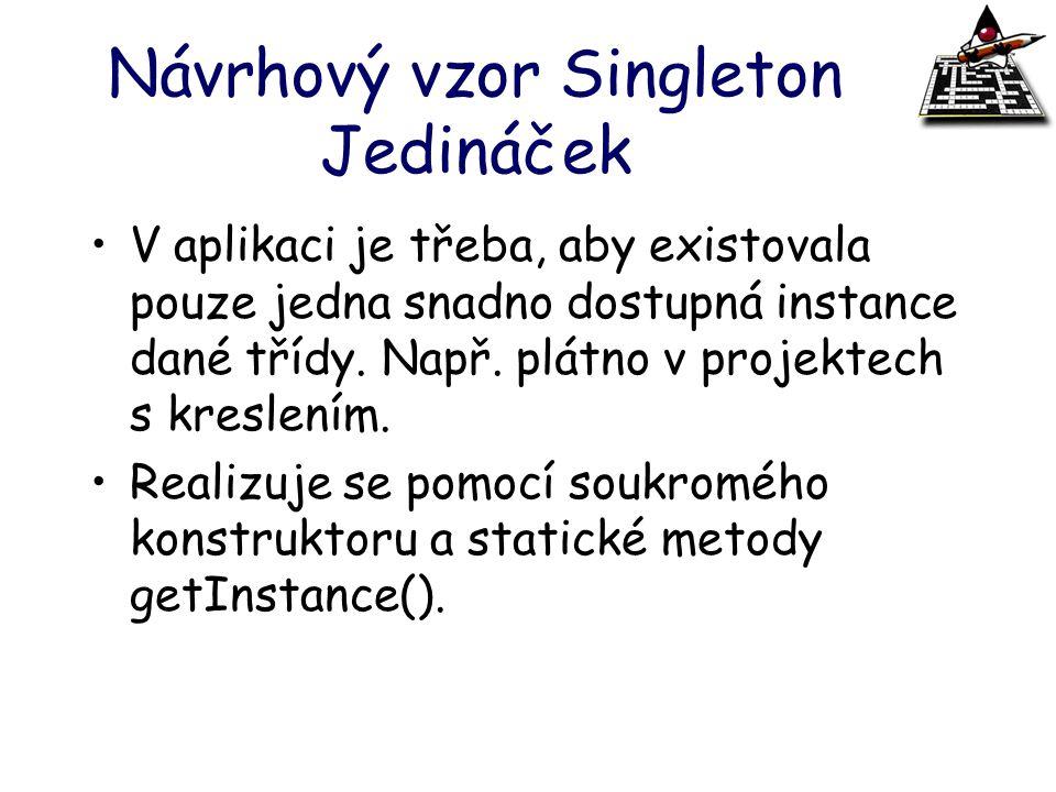 Návrhový vzor Singleton Jedináček
