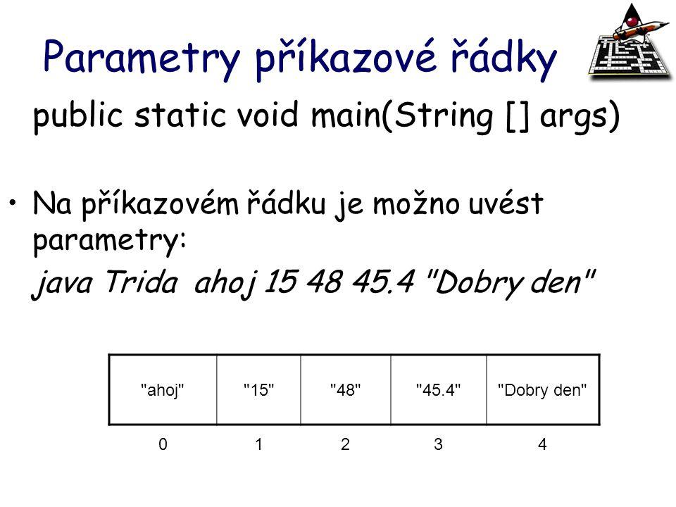 Parametry příkazové řádky
