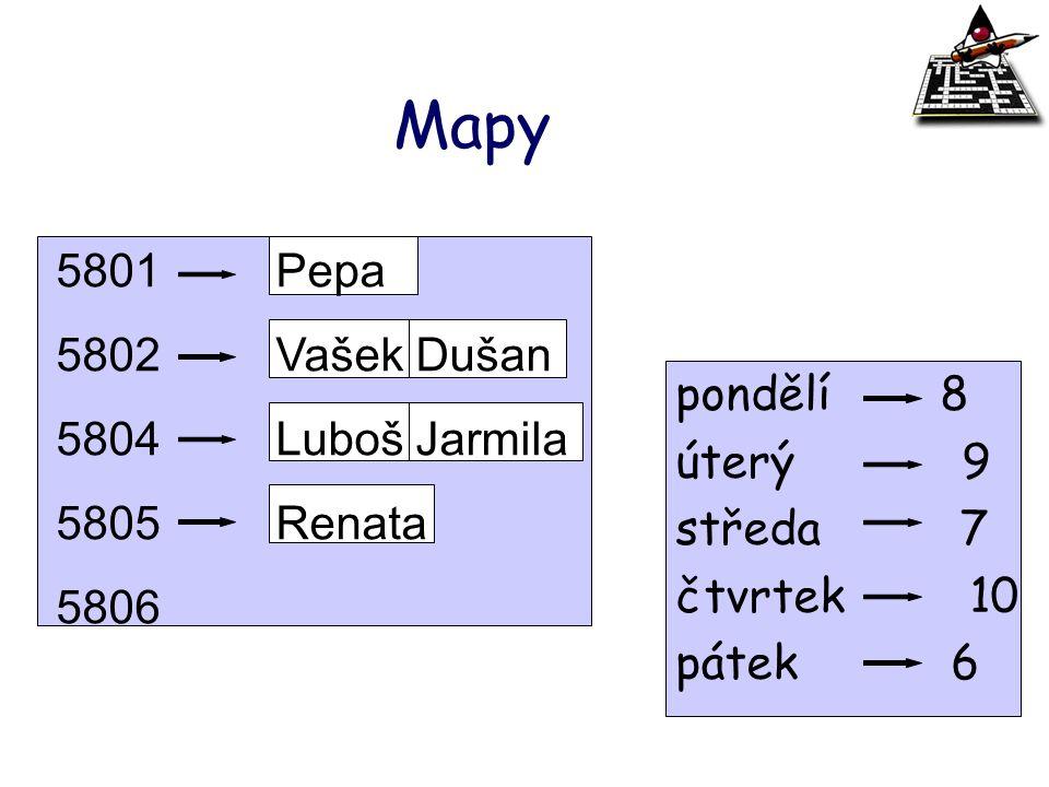 Mapy Pepa Vašek Dušan 5804 Luboš Jarmila Renata pondělí 8 5806 úterý 9