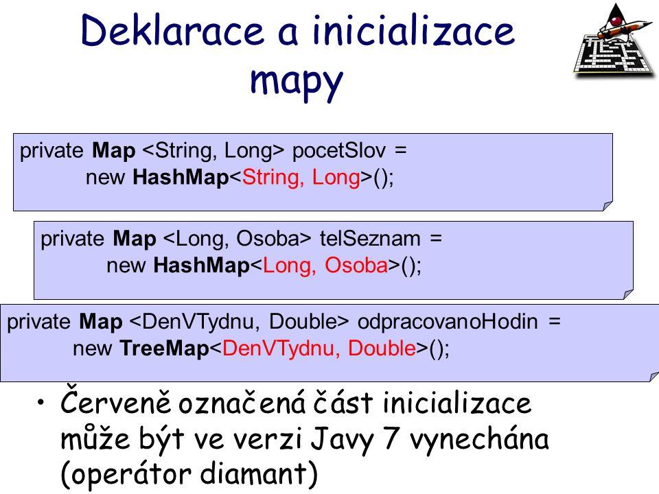 Deklarace a inicializace mapy