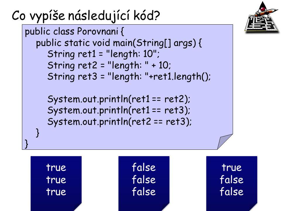 Co vypíše následující kód