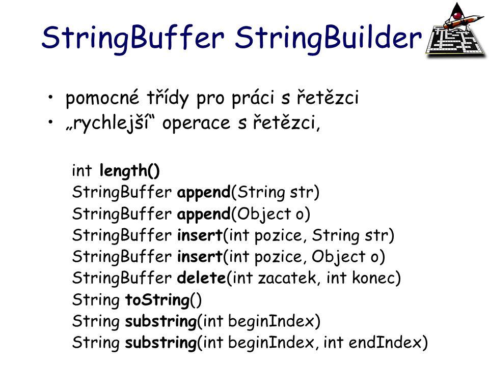 StringBuffer StringBuilder