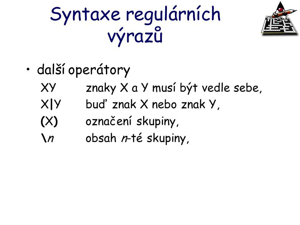 Syntaxe regulárních výrazů