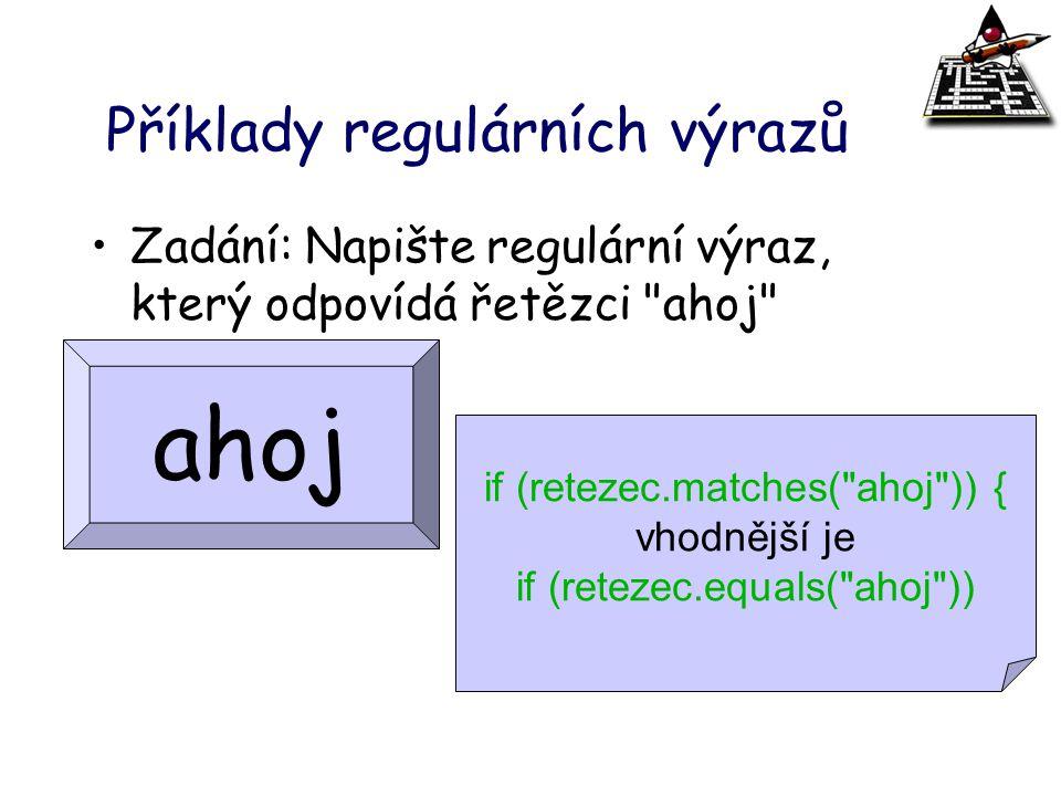 Příklady regulárních výrazů