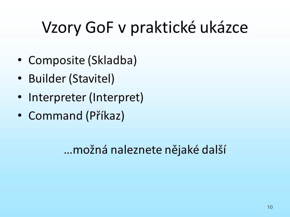 Vzory GoF v praktické ukázce