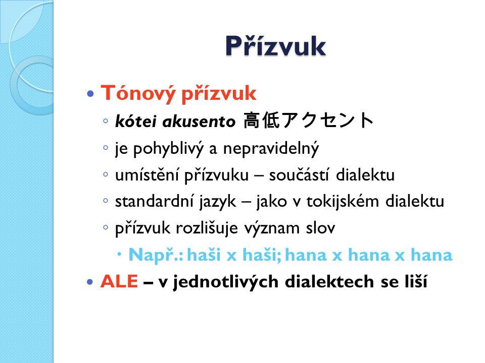 Přízvuk Tónový přízvuk kótei akusento 高低アクセント