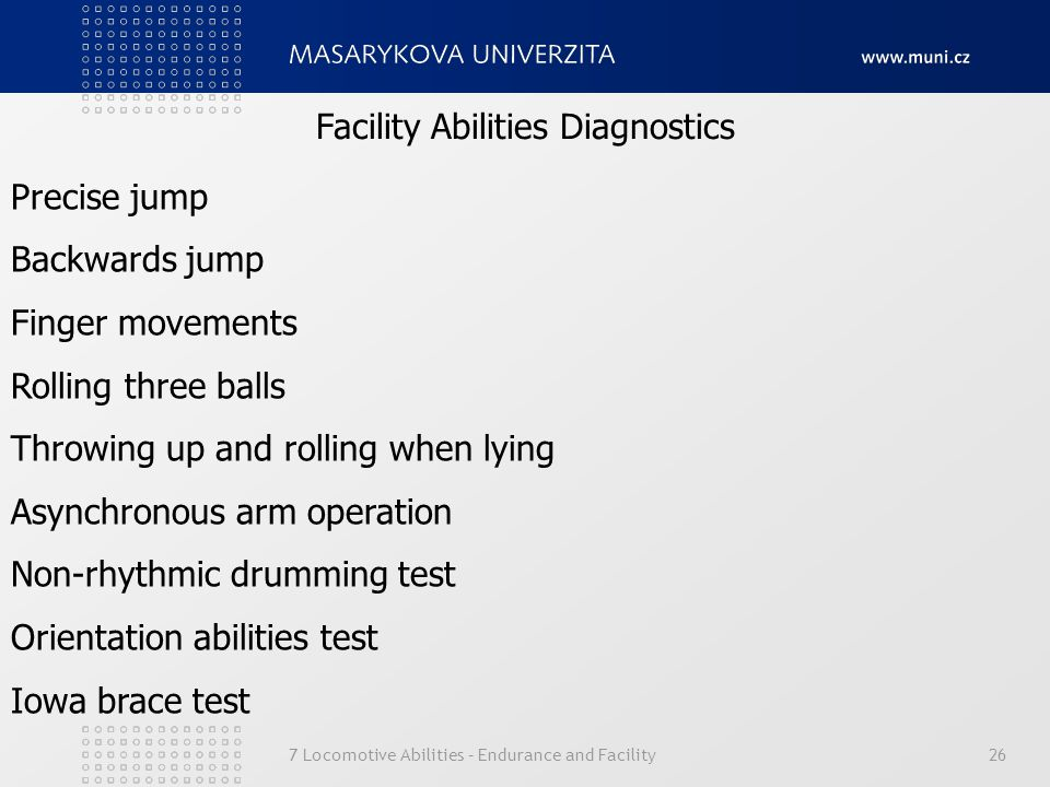 Facility Abilities Diagnostics