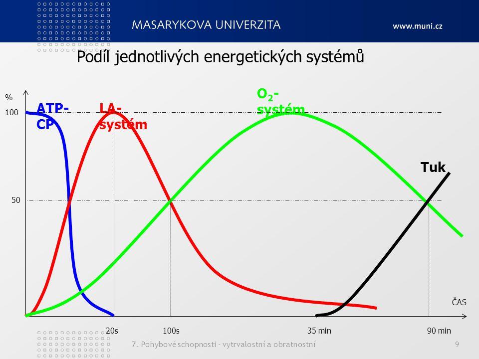 Podíl jednotlivých energetických systémů