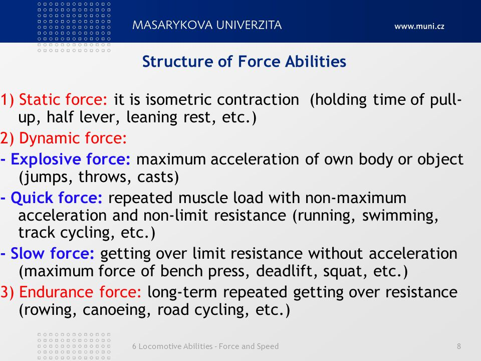 Structure of Force Abilities