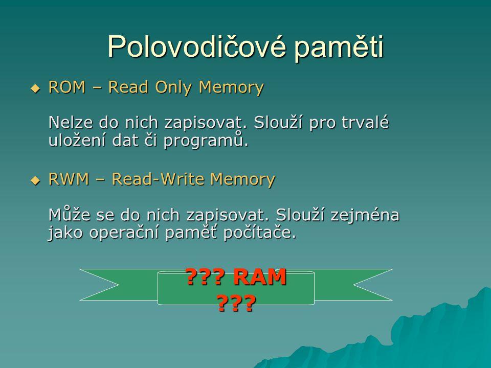 Polovodičové paměti RAM