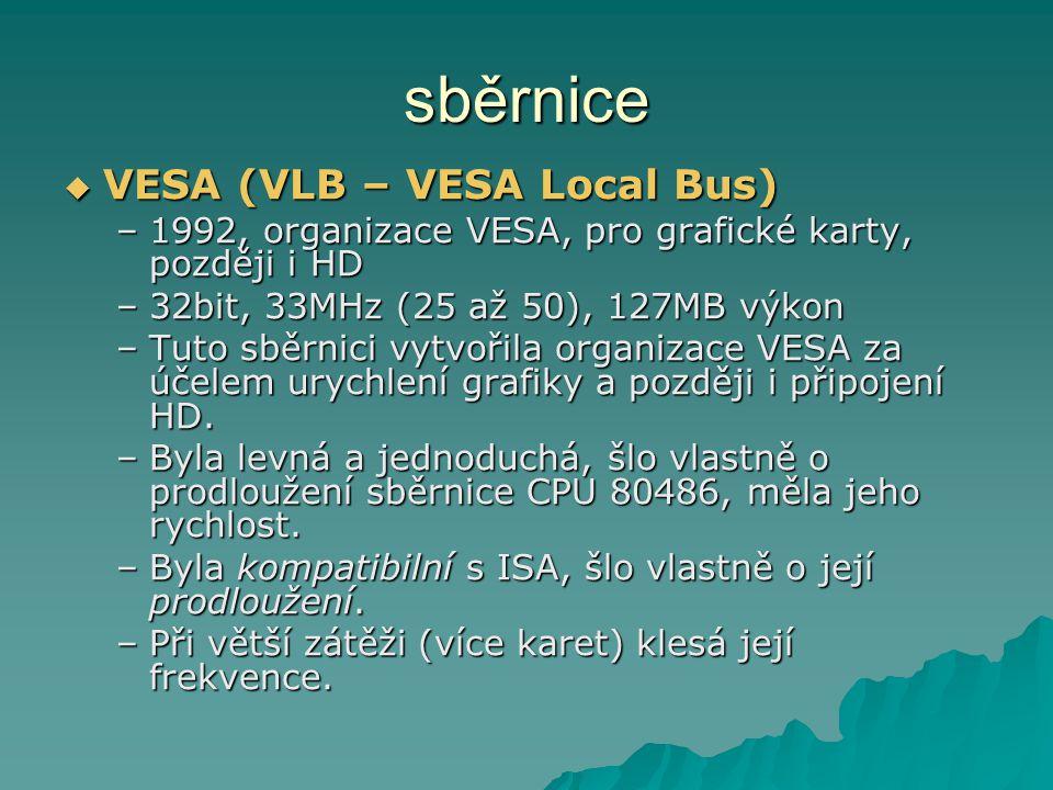 sběrnice VESA (VLB – VESA Local Bus)