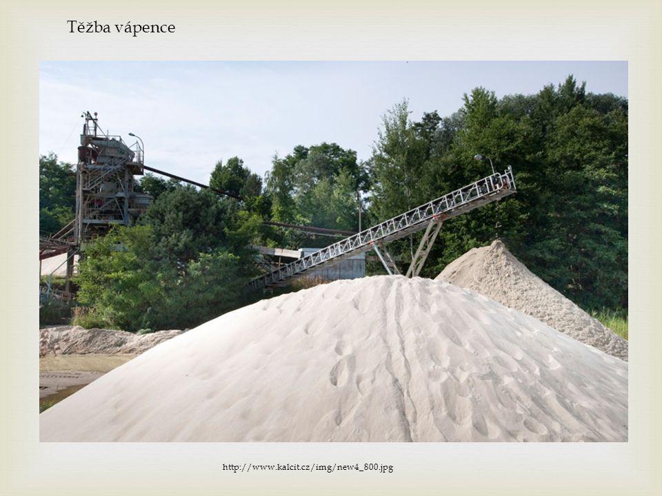 Těžba vápence http://www.kalcit.cz/img/new4_800.jpg