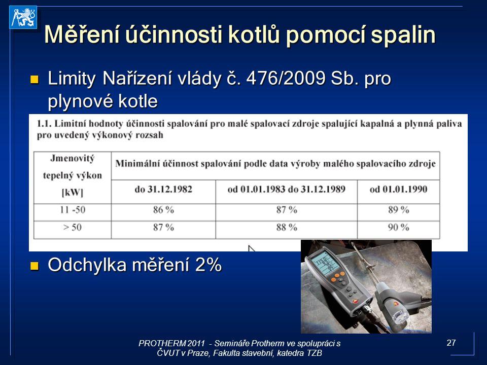 Měření účinnosti kotlů pomocí spalin