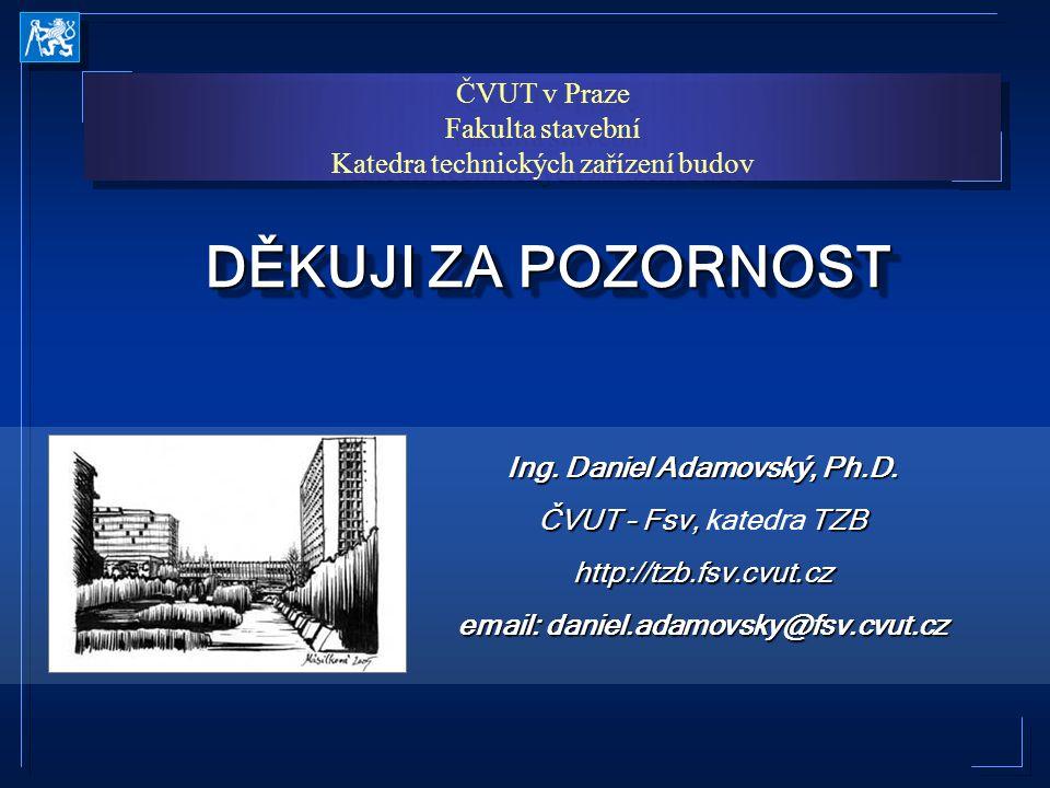 Ing. Daniel Adamovský, Ph.D. email: daniel.adamovsky@fsv.cvut.cz