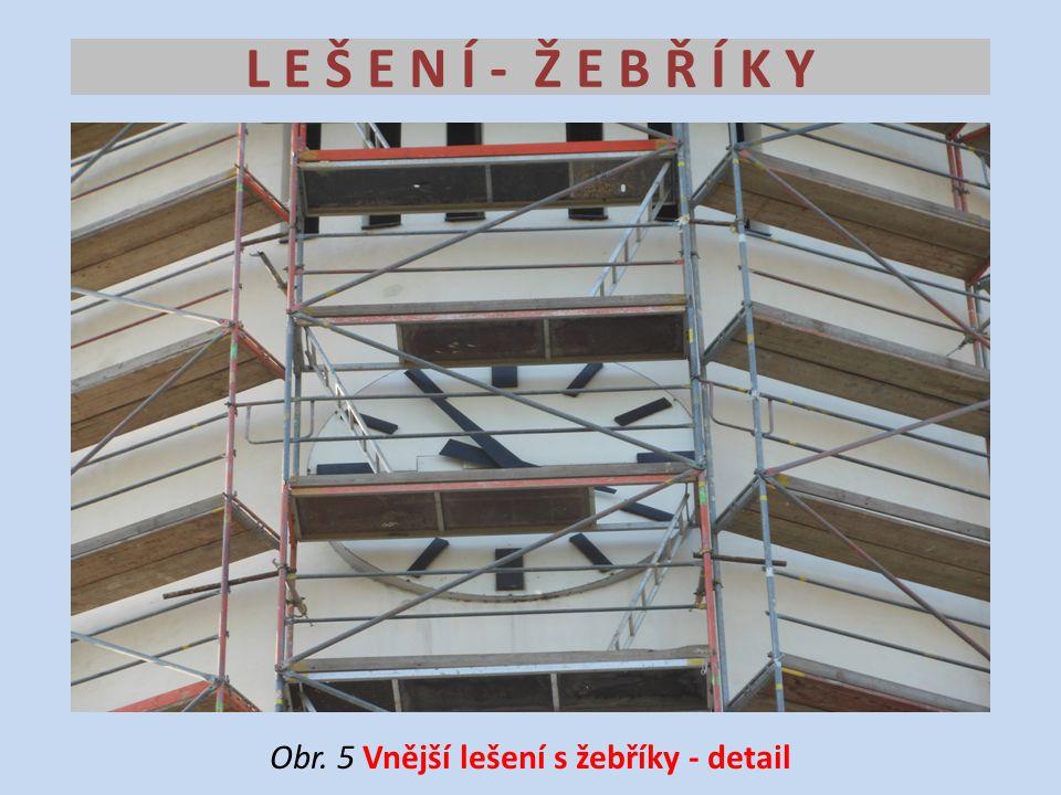 Obr. 5 Vnější lešení s žebříky - detail