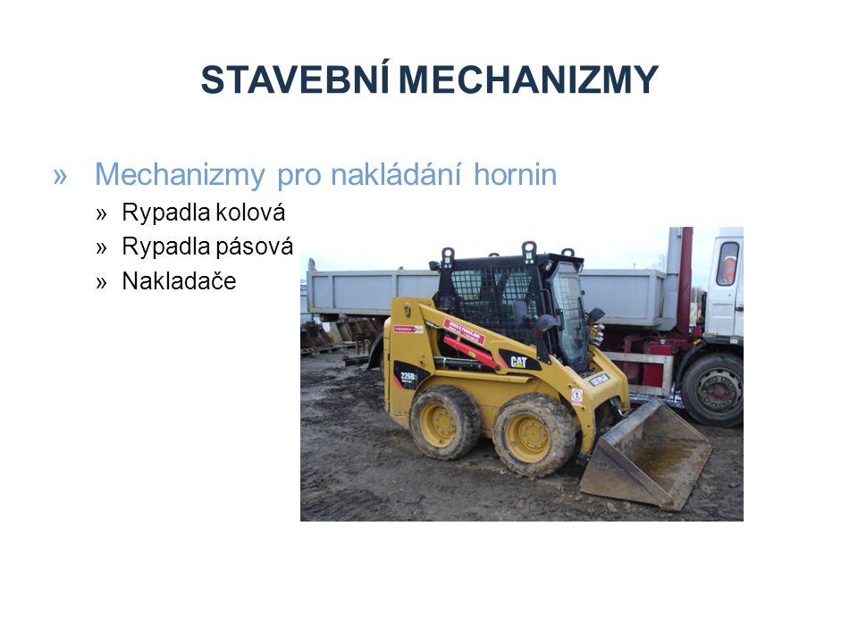 STAVEBNÍ MECHANIZMY Mechanizmy pro nakládání hornin Rypadla kolová
