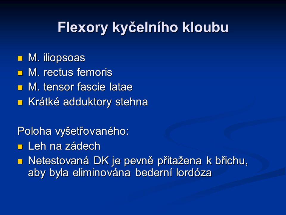 Flexory kyčelního kloubu