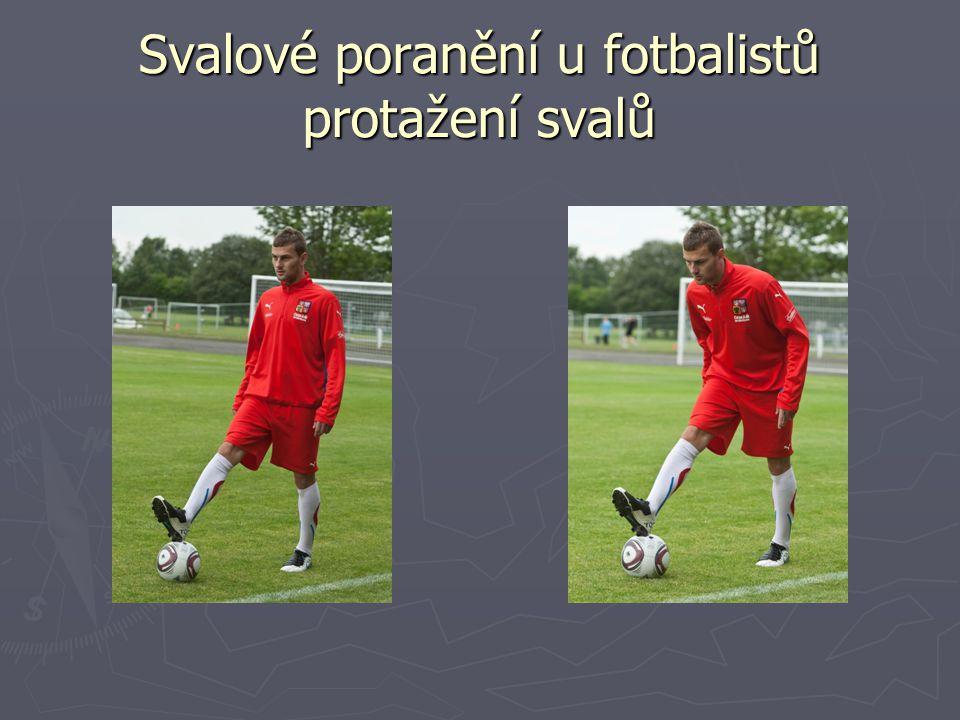 Svalové poranění u fotbalistů protažení svalů