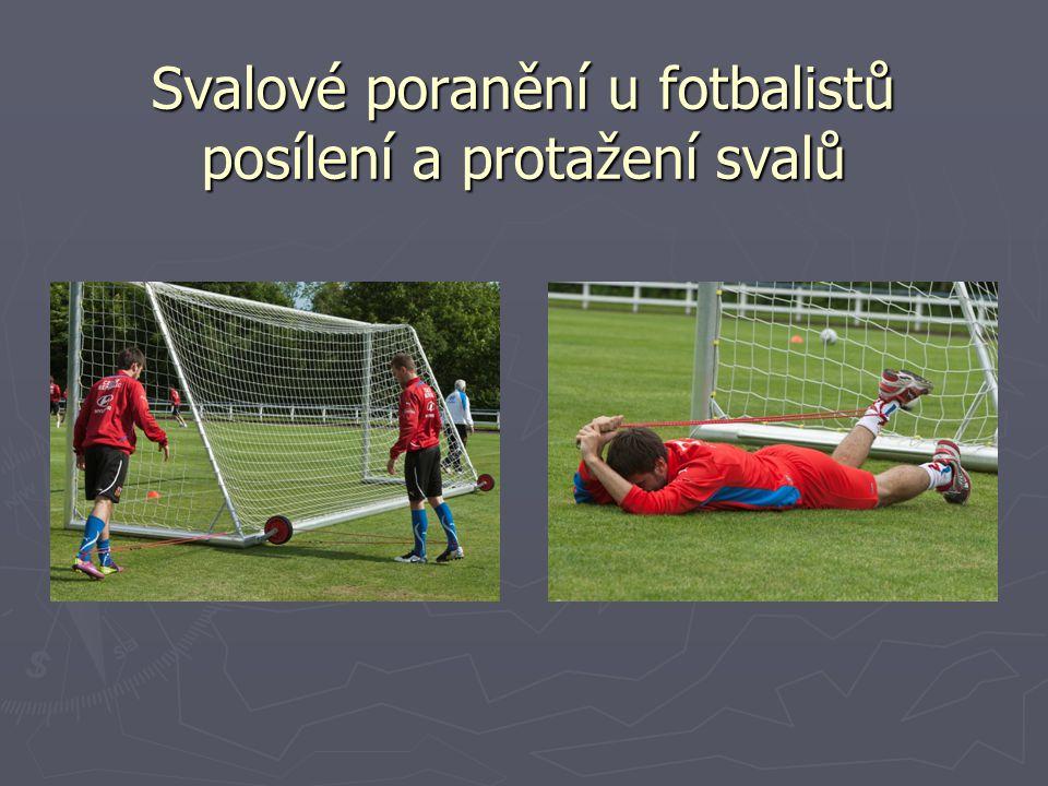 Svalové poranění u fotbalistů posílení a protažení svalů