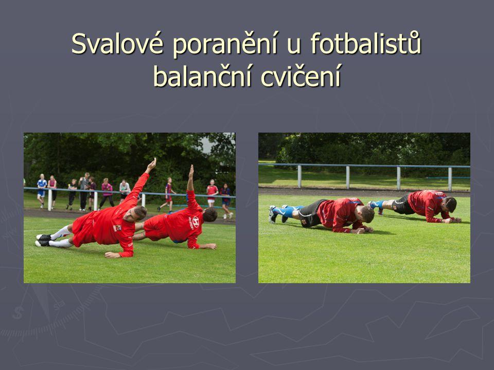 Svalové poranění u fotbalistů balanční cvičení