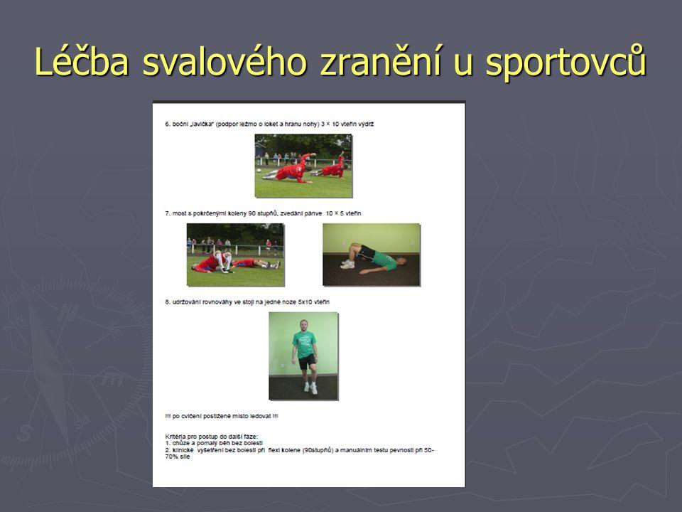 Léčba svalového zranění u sportovců