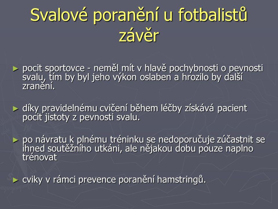Svalové poranění u fotbalistů závěr