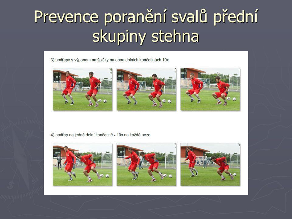 Prevence poranění svalů přední skupiny stehna