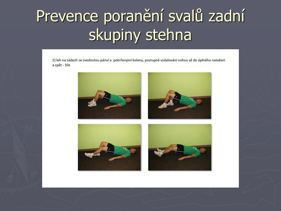 Prevence poranění svalů zadní skupiny stehna