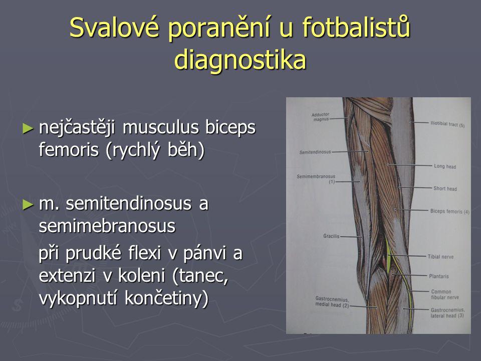 Svalové poranění u fotbalistů diagnostika