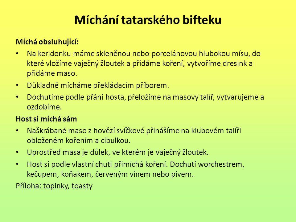 Míchání tatarského bifteku