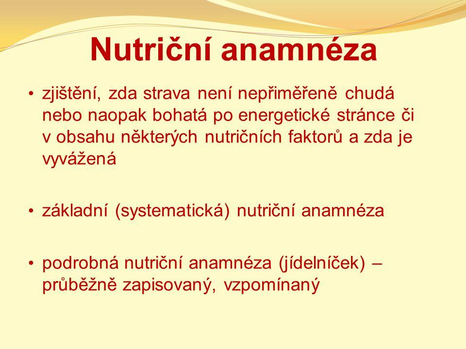 Nutriční anamnéza