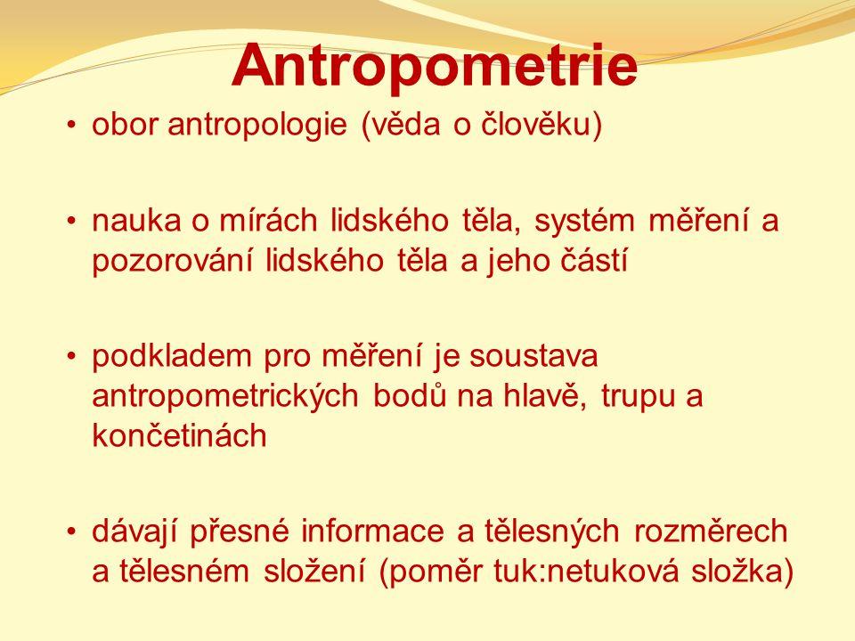 Antropometrie obor antropologie (věda o člověku)