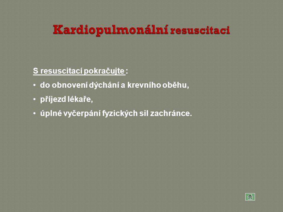 Kardiopulmonální resuscitaci