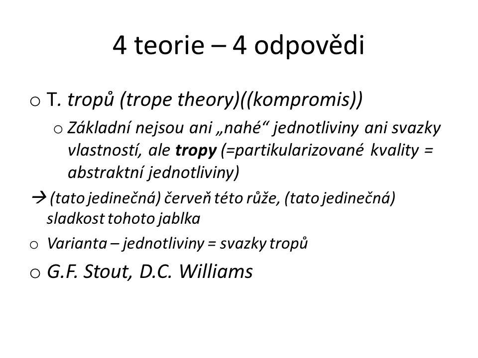 4 teorie – 4 odpovědi T. tropů (trope theory)((kompromis))