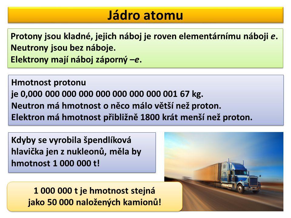 jako 50 000 naložených kamionů!