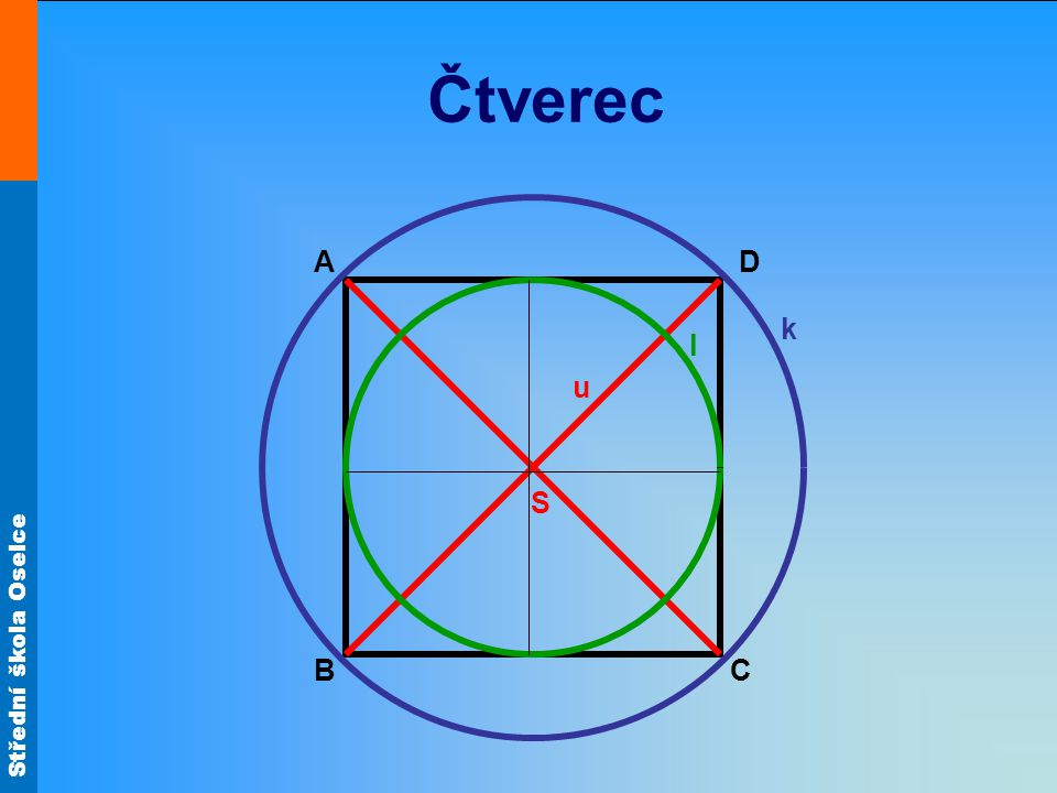 Čtverec A D k l u S B C