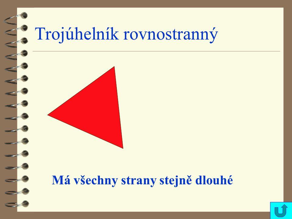 Trojúhelník rovnostranný