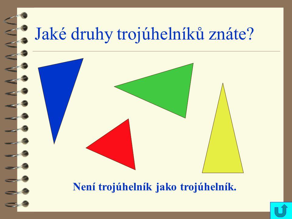 Jaké druhy trojúhelníků znáte