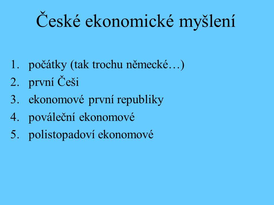 České ekonomické myšlení