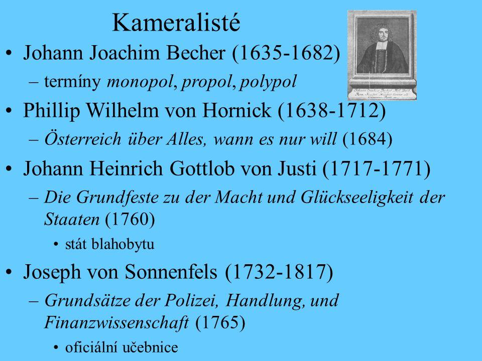 Kameralisté Johann Joachim Becher (1635-1682)