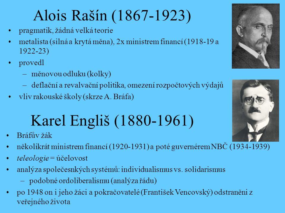 Alois Rašín (1867-1923) Karel Engliš (1880-1961)