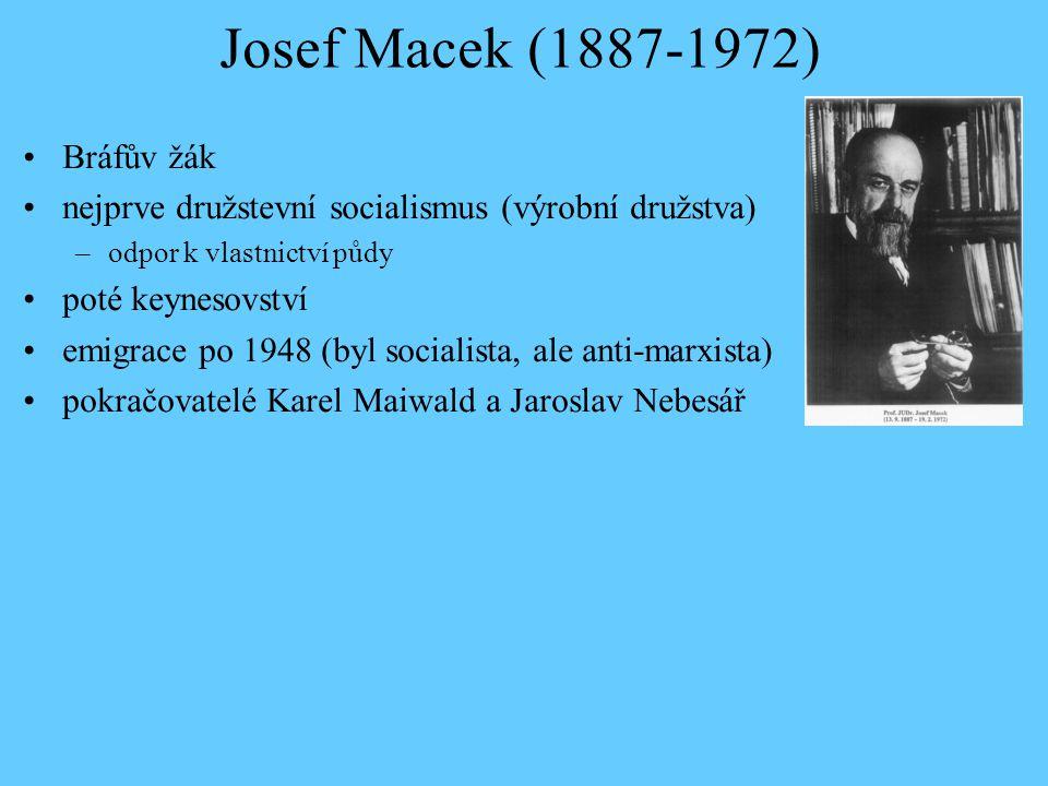 Josef Macek (1887-1972) Bráfův žák