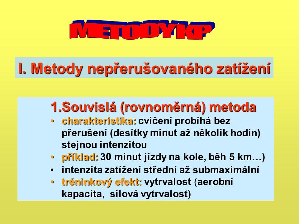 I. Metody nepřerušovaného zatížení