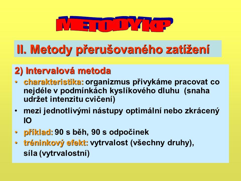 II. Metody přerušovaného zatížení