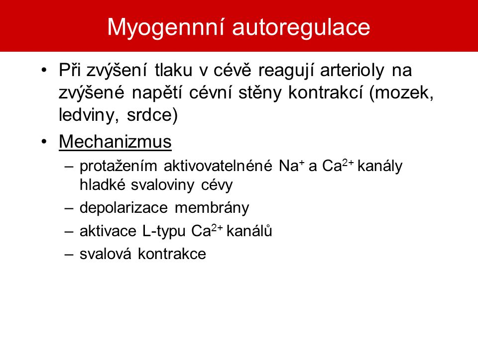 Myogennní autoregulace