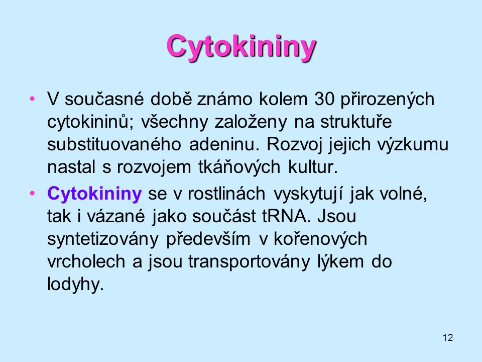 Cytokininy