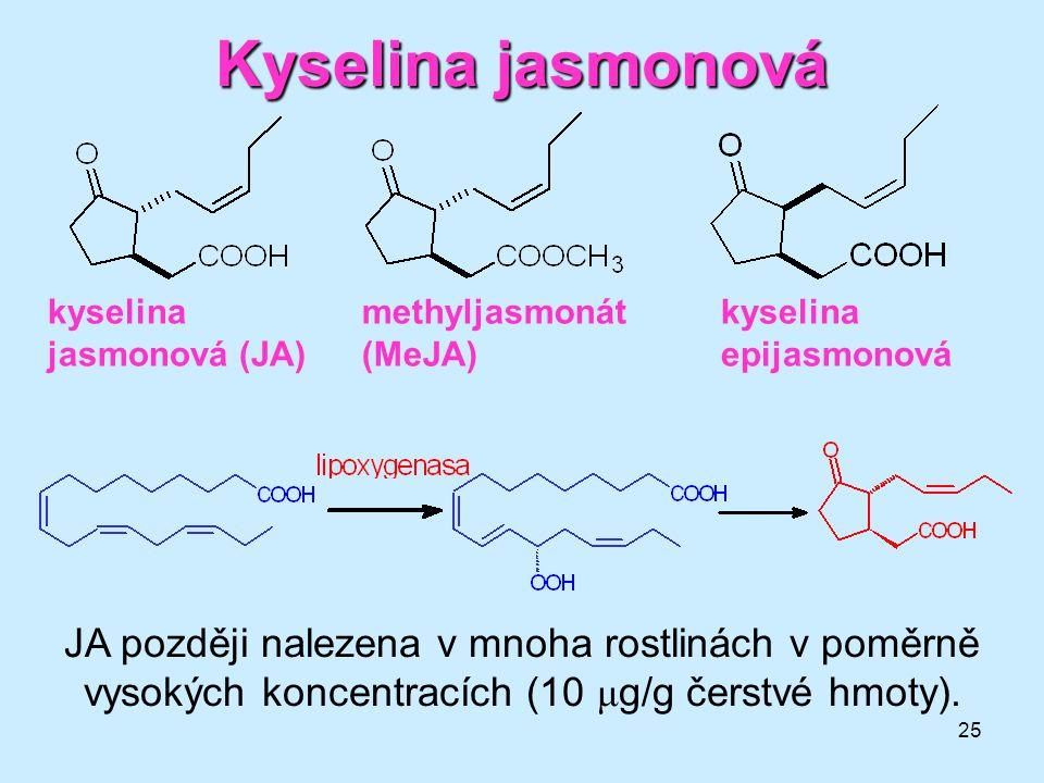 Kyselina jasmonová kyselina jasmonová (JA) methyljasmonát. (MeJA) kyselina. epijasmonová.