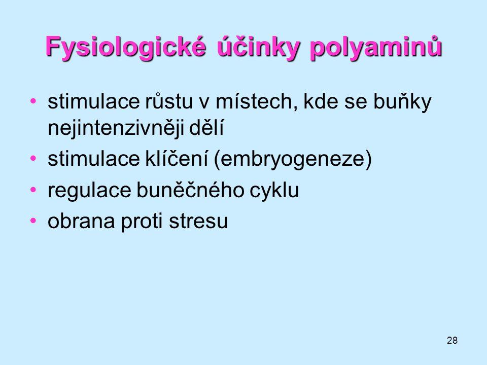 Fysiologické účinky polyaminů